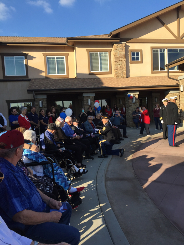 paintbrush assisted living and memory care salutes veterans day 2015