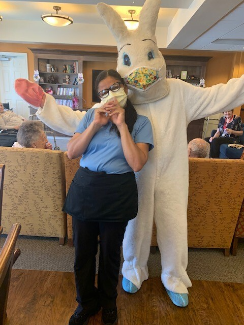 Easter Bunny with Worker